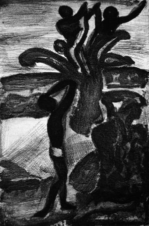 Aquatint Rouault - Incantation
