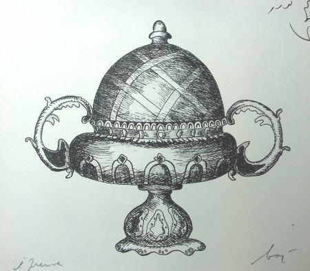 Lithograph Baj - Incongruité