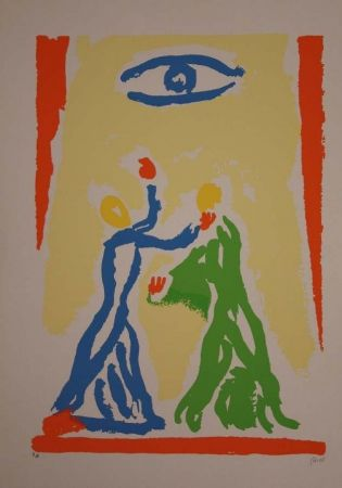 Lithograph Guidi - Incontri