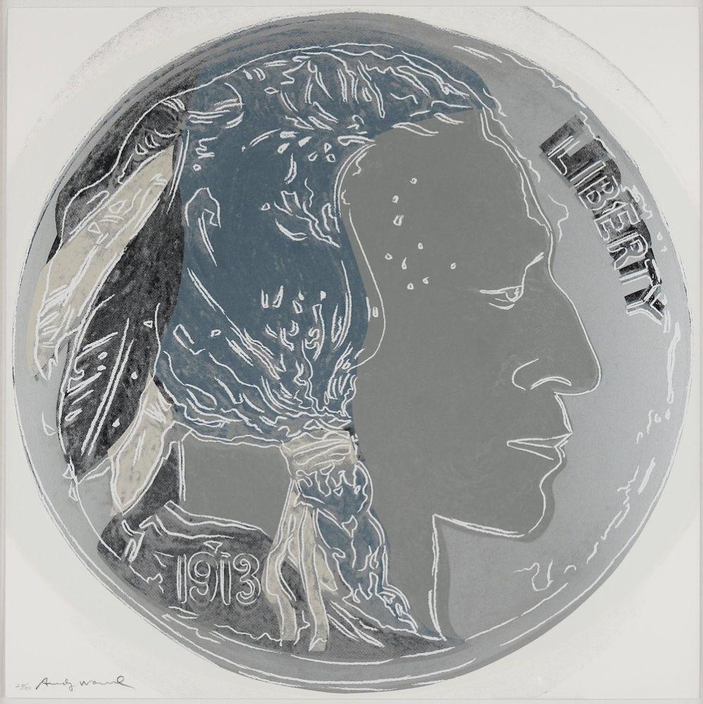 Screenprint Warhol - Indian Head Nickel