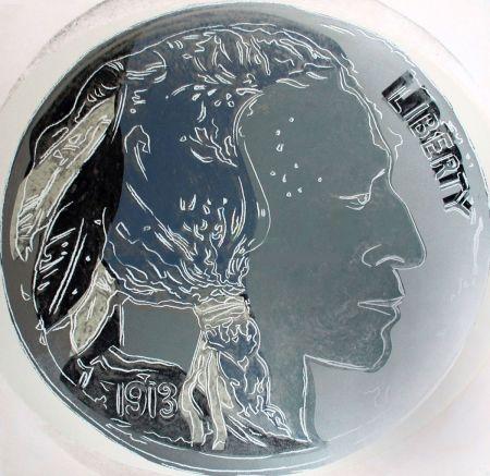 Screenprint Warhol - Indian Head Nickel (FS II.385)