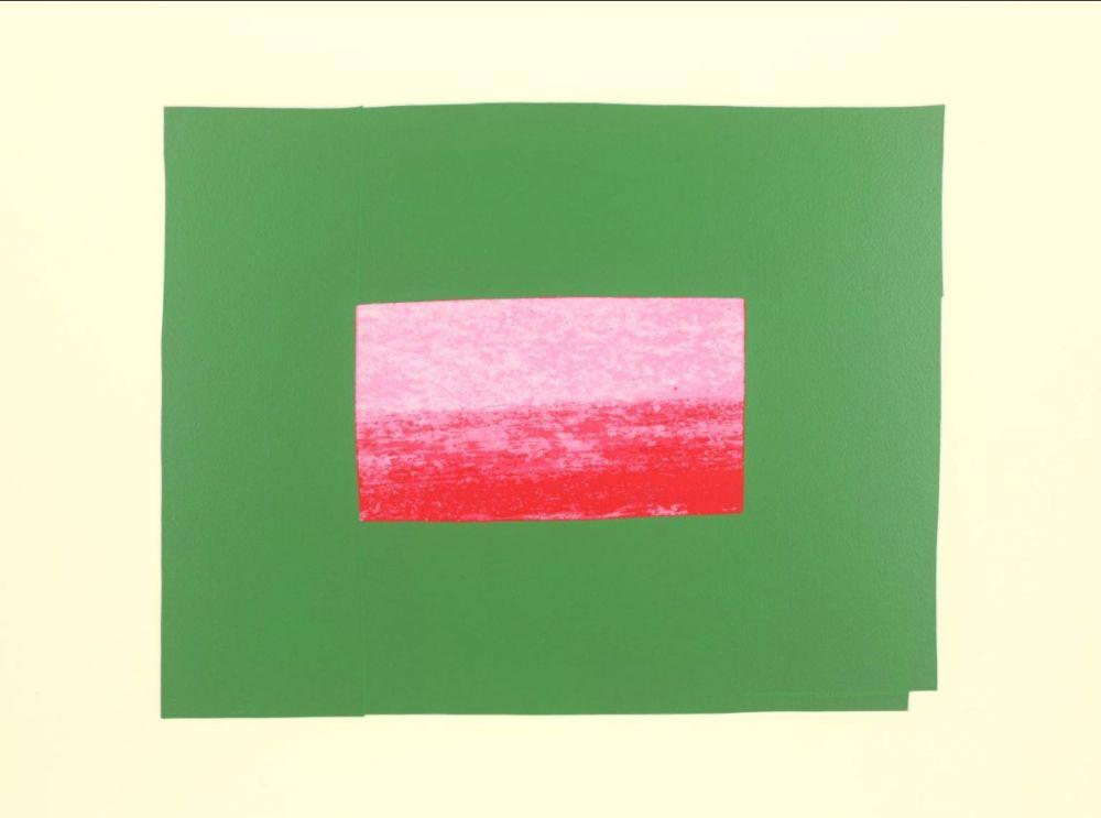 Screenprint Hodgkin - Indian Views Suite – Plate I