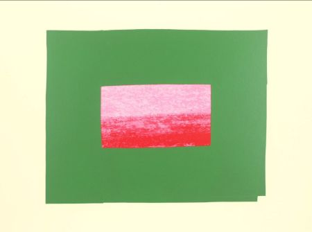 Screenprint Hodgkin - Indian Views Suite – Plate I