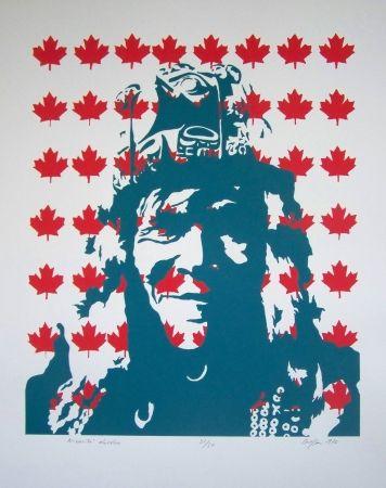 Lithograph Messac - Indien canadien