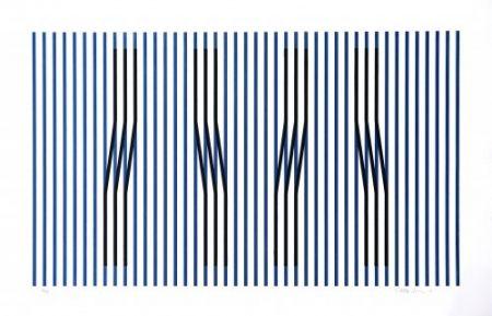 Engraving Cruz-Diez - Induction du Jaune Masnou