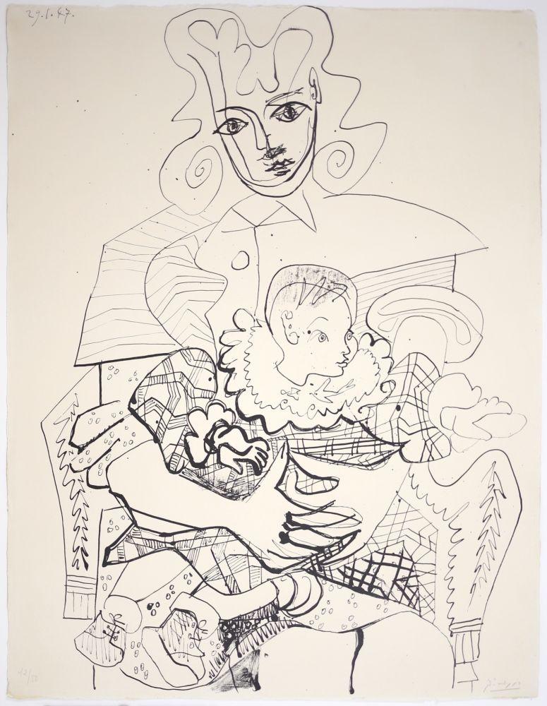 Lithograph Picasso - Ines et son Enfant