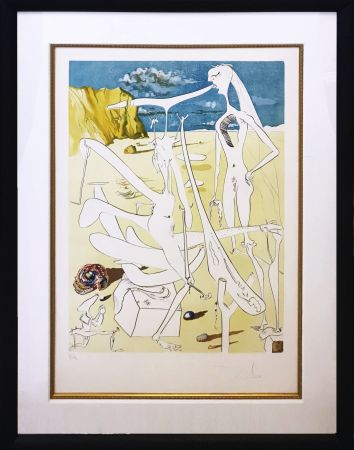 Engraving Dali - INFRATERRESTRIALS ADORED BY DALI