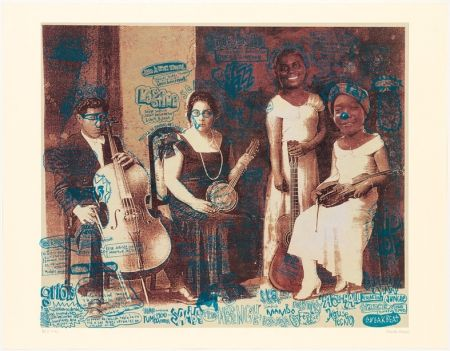 Lithograph Romero - Ingredientes Musicales
