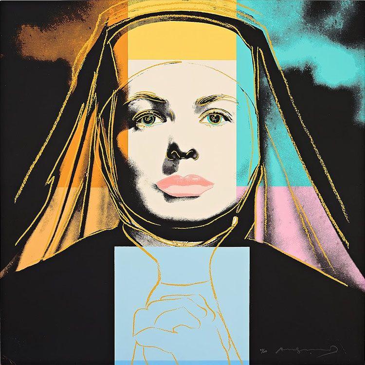 "Screenprint Warhol - Ingrid Bergman The Nun (From ""The Bells of St. Mary's"")"