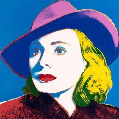 Screenprint Warhol - Ingrid With Hat