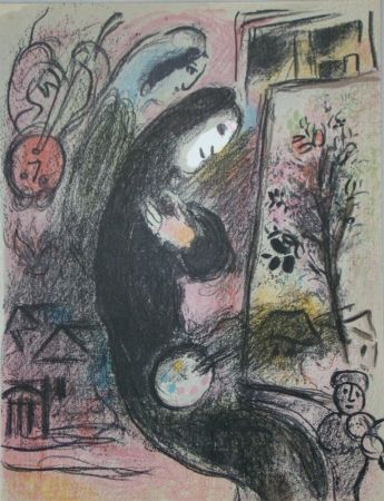 Lithograph Chagall - Inspiration