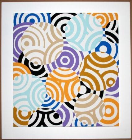 Woodcut Asis - Interferences cercles de couleurs