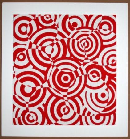 Woodcut Asis - Interferences cercles rouge et blanc