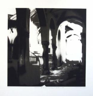 Lithograph Equipo Realidad - Interior de la Iglesia de Espejo (Cordoba) en septiembre de 1937