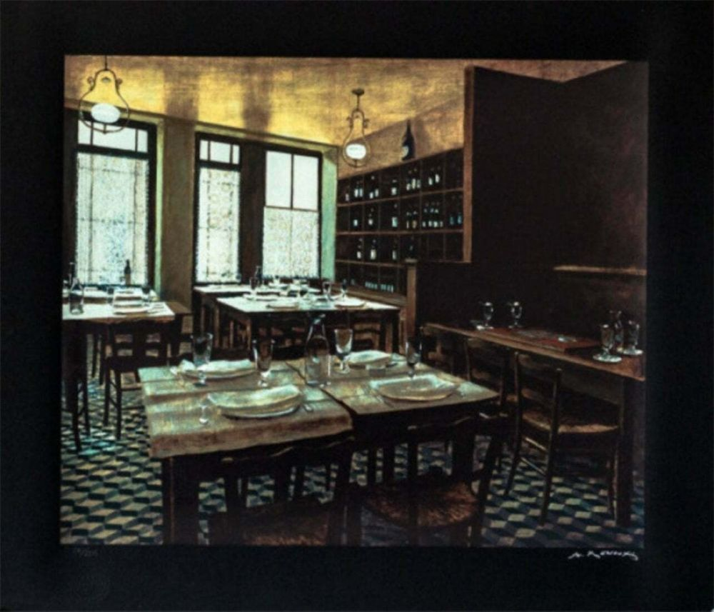 Screenprint Renoux - Interior Van Gogh