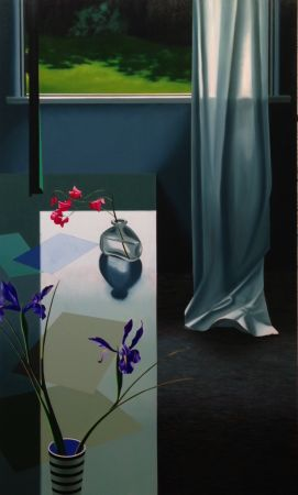 No Technical Cohen - Interior with Iris and Sweet Peas