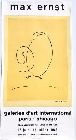 Lithograph Ernst - International Art Gallery Paris- Chicago