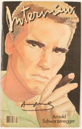 Illustrated Book Warhol - INTERVIEW SCHWAZNEGGER