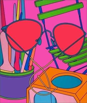 Screenprint Craig-Martin - Intimate Relations: Sunglasses
