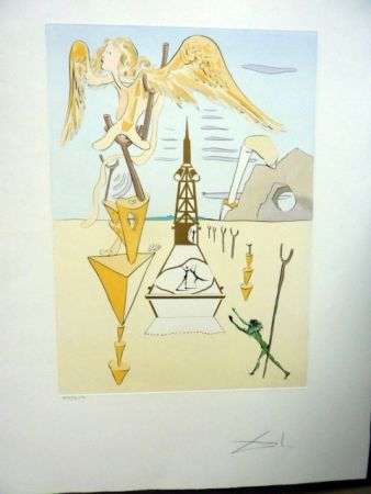 Engraving Dali - Invention Of The Rocket