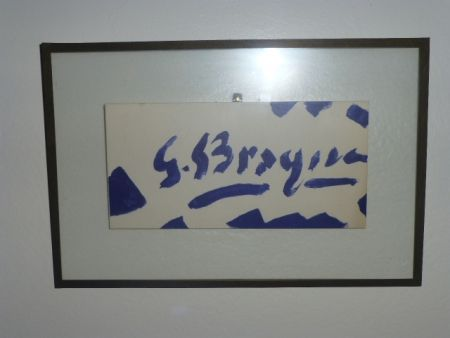 Lithograph Braque - Invitation à la galerie Maeght