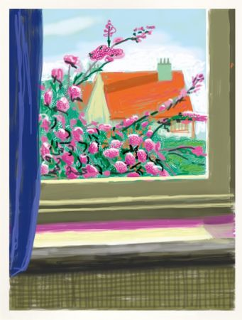Numeric Print Hockney - IPad drawing  'No. 778', 17th April 2011 | Do remember they can't cancel the spring