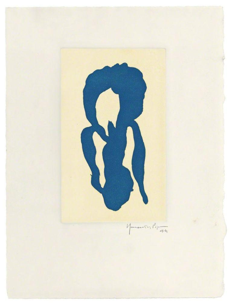 Etching Hernandez Pijuan - Iris blau 10