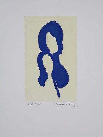 Aquatint Hernandez Pijuan - Iris Blau I / Blue Iris I