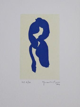 Aquatint Hernandez Pijuan - Iris blau III / Blue Iris III