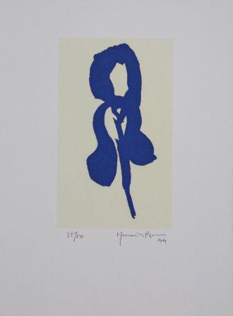 Aquatint Hernandez Pijuan - Iris Blau Iv / Blue Iris Iv
