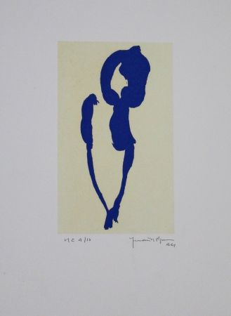 Aquatint Hernandez Pijuan - Iris Blau Vii / Blue Iris Vii