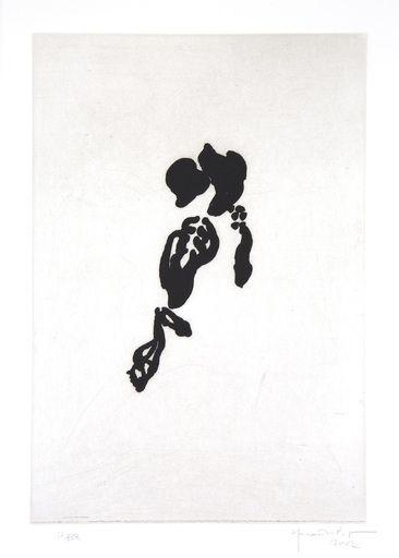 Etching Hernandez Pijuan - Iris negre II