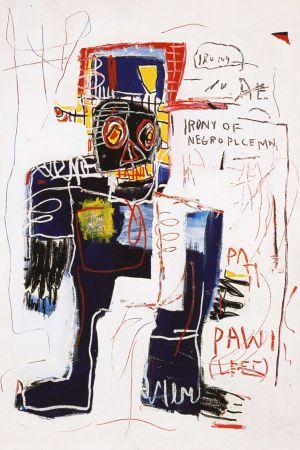 No Technical Basquiat - Irony of negro policeman