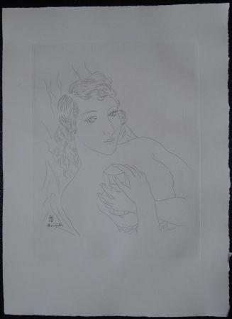Engraving Foujita - Isabey, mon seul ami
