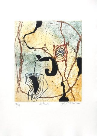 Etching And Aquatint Texier - Islanos
