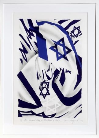 Lithograph Rosenquist - Israel Flag at the Speed of Light