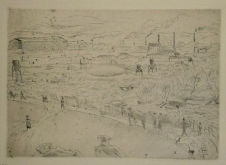 Drypoint Pascin - Issy-les-Moulineaux