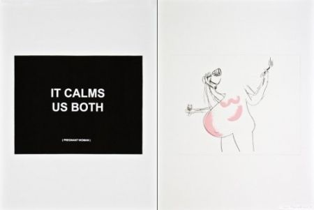 Etching Prouvost  - It calms us both 1