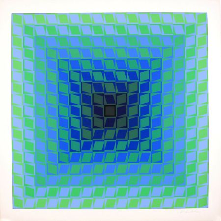 Screenprint Vasarely - IX POSITIF - QUASAR