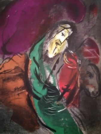Lithograph Chagall - Jérémie