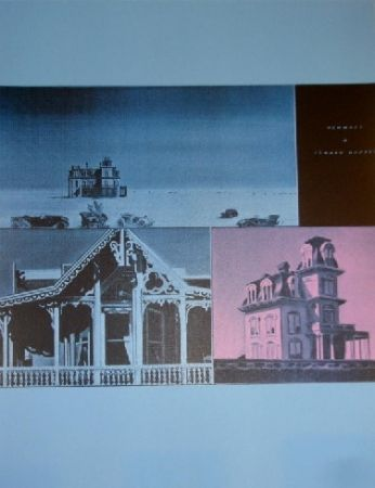 Screenprint Monory -  Jacques MONORY USA 76 - The House by the railroad