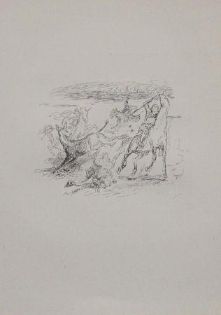 Lithograph Slevogt - Jagd der hellenischen Soldaten