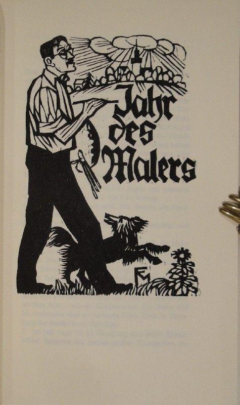 Illustrated Book Felixmuller  - Jahr des Malers