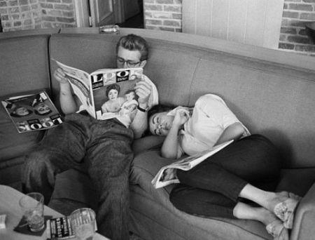 Photography Miller - James Dean and Elizabeth Taylor