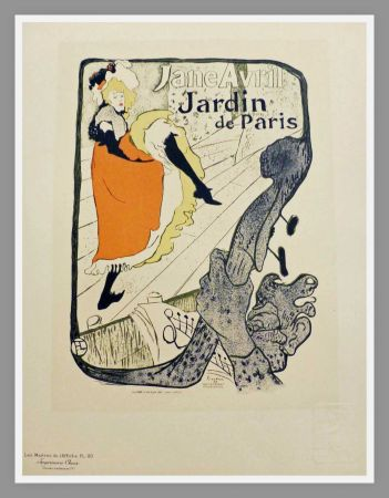 Lithograph Toulouse-Lautrec - JANE AVRIL - JARDIN DE PARIS - TOULOUSE LAUTREC