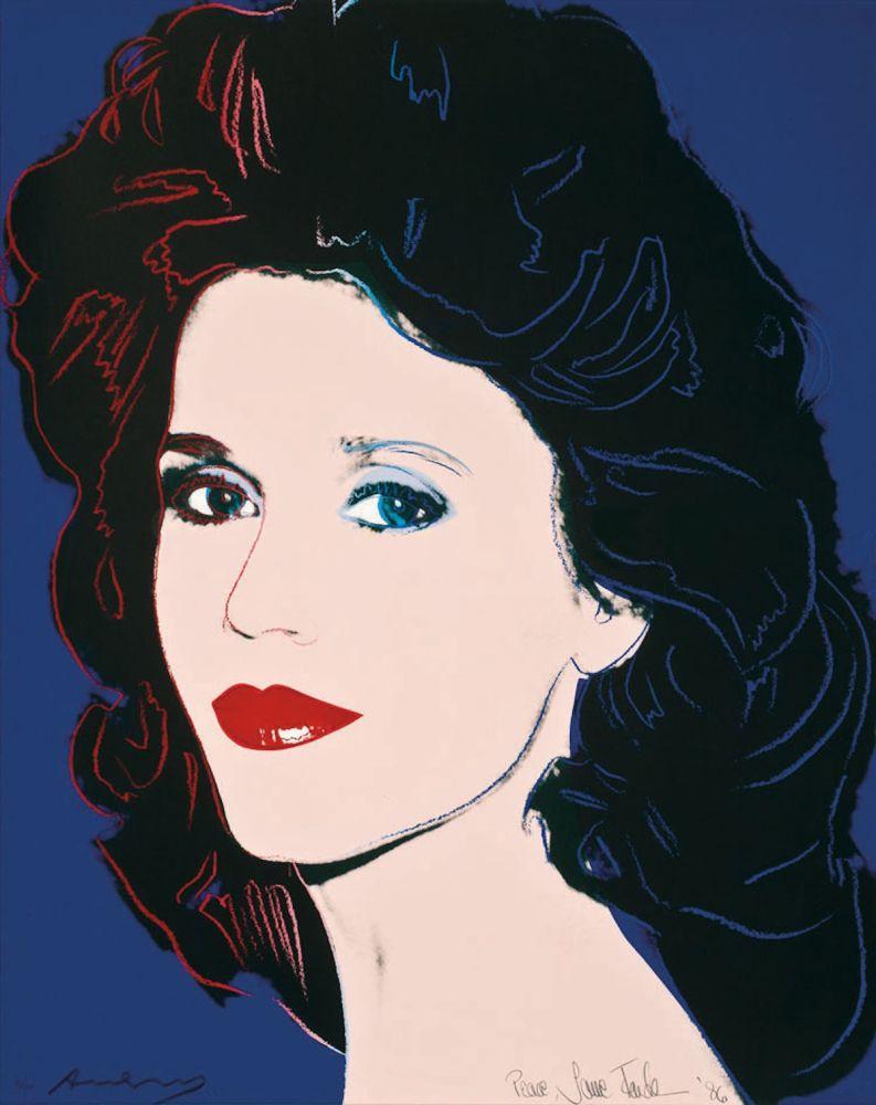 Screenprint Warhol - Jane Fonda (FS II.268)