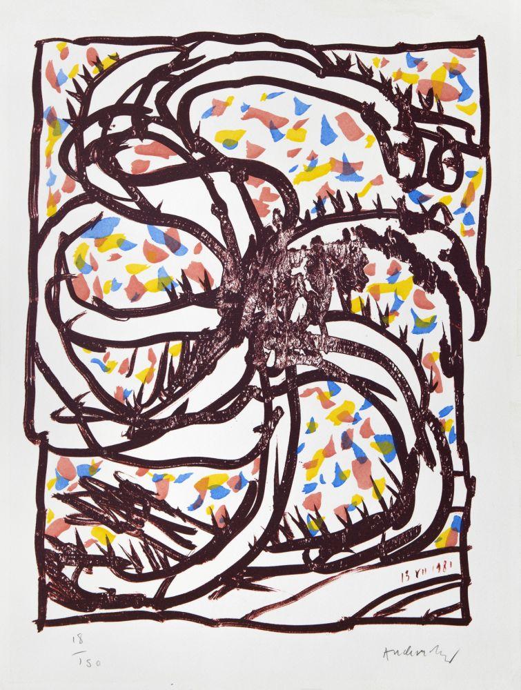 Lithograph Alechinsky - Jantes et jambes