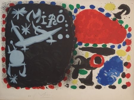 Lithograph Miró - Japan 1966 (handsigned proof on vellum before letter)