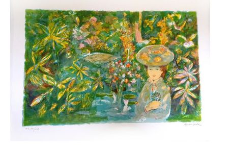 Lithograph Grau Sala - Jardin