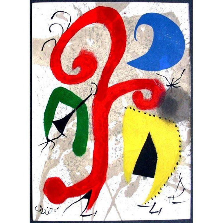 Lithograph Miró - Jardin au Clair de Lune